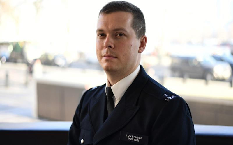 Pc Stuart Outten has said the attack will not change the way he acts as a police officer - PA