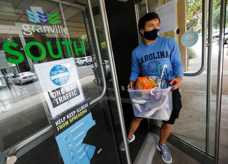 After a coronavirus outbreak in August, students at the University of North Carolina were required to leave student housing.