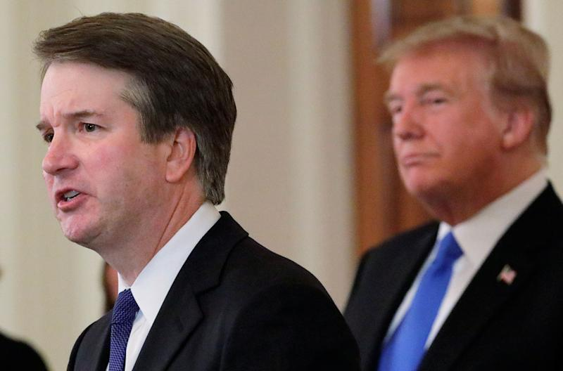 Donald Trump is not even the most notorious accused sexual harasser in Brett Kavanaugh's circle. (Photo: Jim Bourg/Reuters)