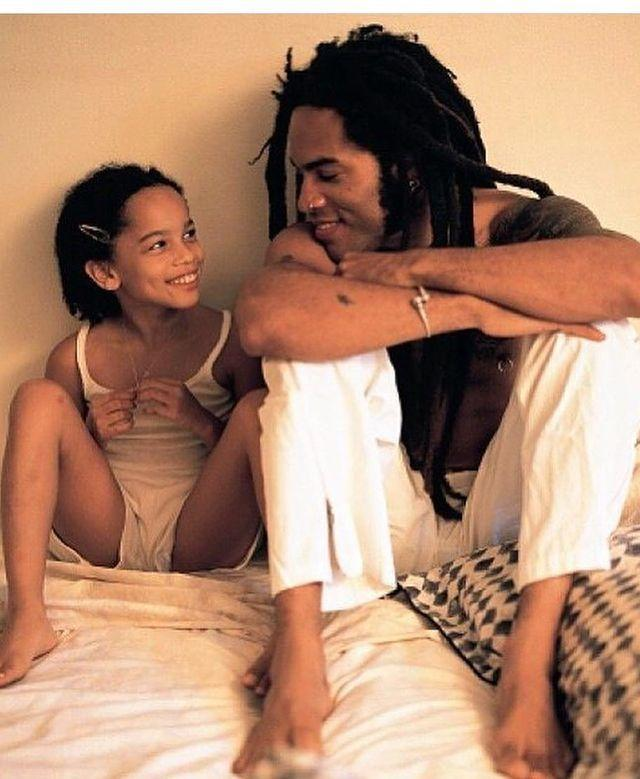 """<p>Daddy-daughter duo Zoë and Lenny Kravitz were always as cool as a cucumber, judging by this picture.</p><p><a href=""""https://www.instagram.com/p/BjPqe2MBkET/"""" rel=""""nofollow noopener"""" target=""""_blank"""" data-ylk=""""slk:See the original post on Instagram"""" class=""""link rapid-noclick-resp"""">See the original post on Instagram</a></p>"""