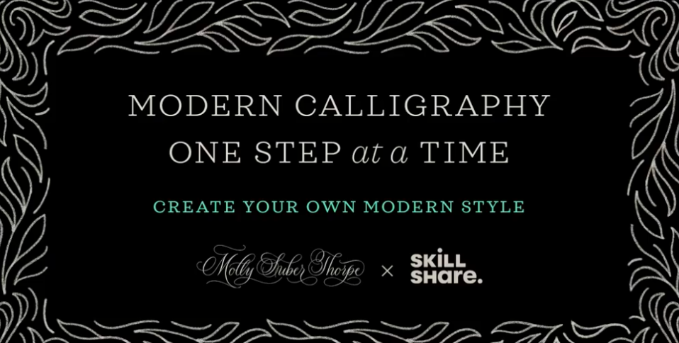 Transform your modern calligraphy style one step at a time. PHOTO: Skillshare