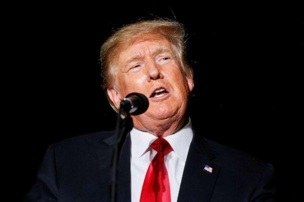 PHOTO: Former President Donald Trump speaks during a rally at the Iowa State Fairgrounds in Des Moines, Iowa, Oct. 9, 2021. (Rachel Mummey/Reuters)
