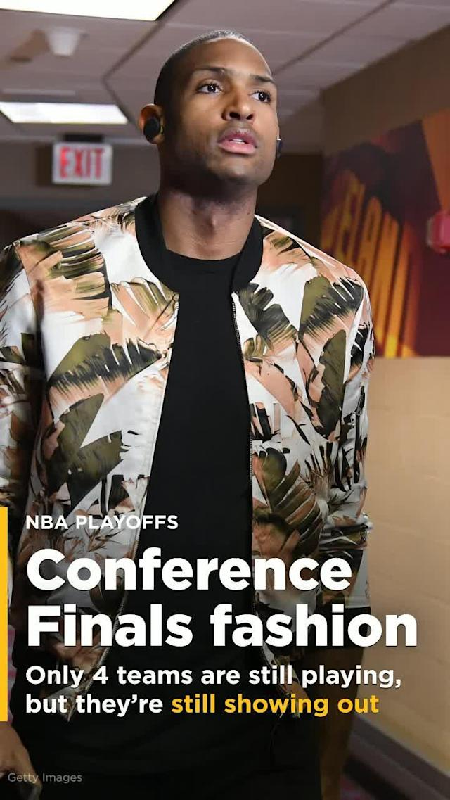 The NBA's best are still showing off their best threads in the Conference Finals.