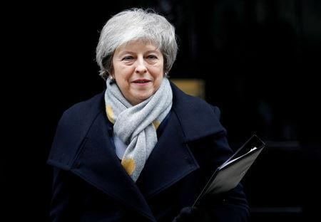 FILE PHOTO: Britain's Prime Minister Theresa May leaves Downing Street in London, Britain, January 15, 2019. REUTERS/Peter Nicholls/File Photo
