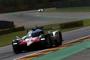 Fernando Alonso's Toyota has been promoted to pole position for the FIA World Endurance Championship season opener at Spa after the sister car was excluded from qualifying
