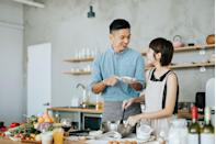 """<p>Apple turnovers, pumpkin pie, spiced cookies of all kinds — is anyone else getting hungry? Baking together makes a fun activity with a sweet payoff, so grab some ingredients and try a new recipe with your partner. </p><p><strong>RELATED: </strong><a href=""""http://www.goodhousekeeping.com/food-recipes/dessert/g28089407/easy-fall-desserts/"""" rel=""""nofollow noopener"""" target=""""_blank"""" data-ylk=""""slk:60 Easy Fall Desserts That'll Wow Your Dinner Guests"""" class=""""link rapid-noclick-resp"""">60 Easy Fall Desserts That'll Wow Your Dinner Guests</a></p>"""