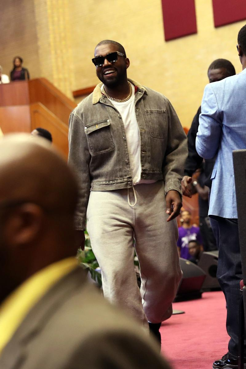 """Kanye West hosts """"Sunday Service"""" at The Greater Allen A.M.E. Cathedral of New York on September 29, 2019"""