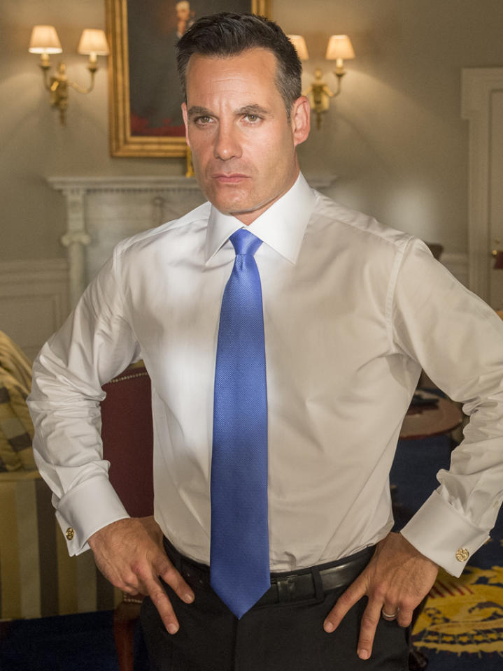 """<p class=""""MsoNormal"""">""""Heroes"""" alum Adrian Pasdar has a guest-starring role as President Paul Garcetti. He bests Elaine in the presidential bid, and then keeps her close in her new role as secretary of state. He seems burned out on the presidency and is lucky that Elaine is there to manage many a crisis.</p>"""