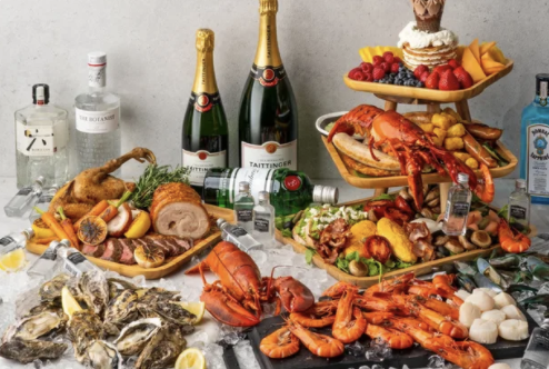 Xperience Restaurant at SO Sofitel, SO/ Brunch Tower + Free-Flow House Pour Beer, Wine or Prosecco for 2 pax, S$216.59 (was S$470.80). PHOTO: Klook