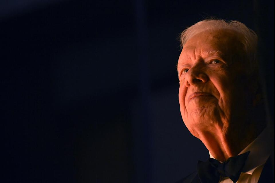 Jimmy Carter may become the first former U.S. President to win twice in the category of Best Spoken Word Album. The 39th President won the 2006 award for Our Endangered Values: America's Moral Crisis. He's nominated this year for A Full Life: Reflections at Ninety. Odds of this happening: Excellent. Carter, 91, has had a widely reported battle with cancer. A Grammy would be a great way of sending him best wishes. (Note: Barack Obama won twice in this category before he became President.)