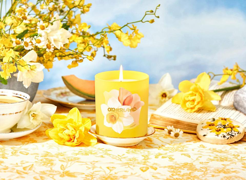 "<h2>Canary</h2><br><strong>The Inspiration:</strong> ""I can't pick favorites, but this is a really great one. It's a bright ray of sunshine. I have memories of daffodils from my grandmother, who had a field of daffodils in upstate New York where she lived.""<br> <br><strong>Scent Profile:</strong> Golden Daffodil, Narcissus Blooms, Cool Cantaloupe<br><br><strong>Otherland</strong> Canary, $, available at <a href=""https://go.skimresources.com/?id=30283X879131&url=https%3A%2F%2Fwww.otherland.com%2Fproducts%2Fgarden-party%3Fvariant%3D33175677698157"" rel=""nofollow noopener"" target=""_blank"" data-ylk=""slk:Otherland"" class=""link rapid-noclick-resp"">Otherland</a>"
