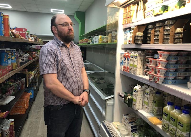 Andrew Pilling, general manager at Number Seven supermarket in Birkenhead (Photo: Aasma Day)