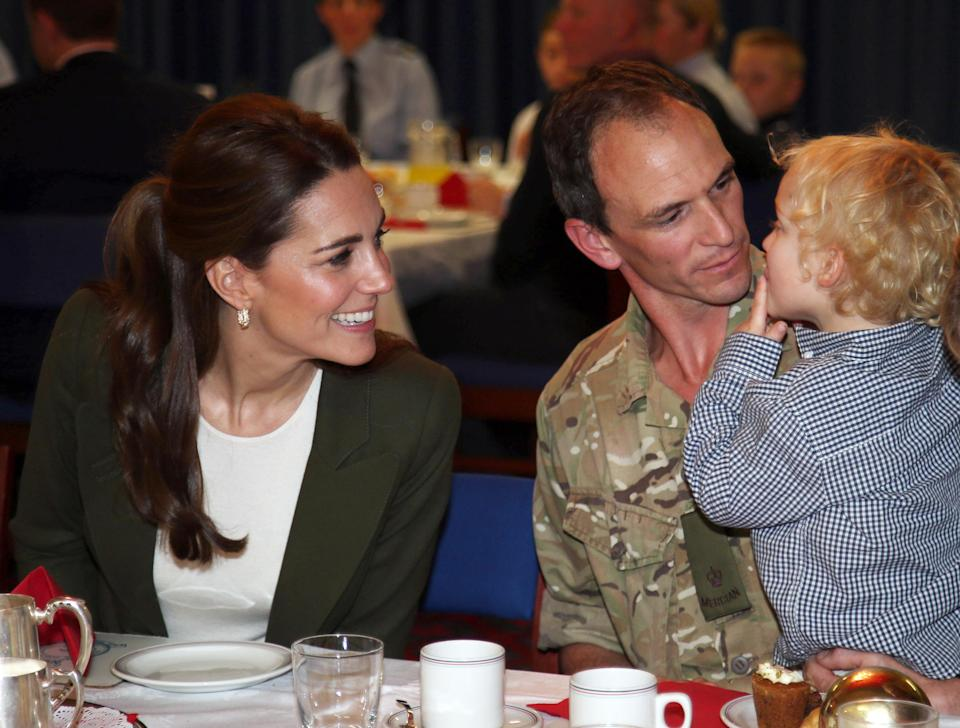 The Duchess of Cambridge visits the Sergeant's Mess at RAF Akrotiri in Cyprus (PA)