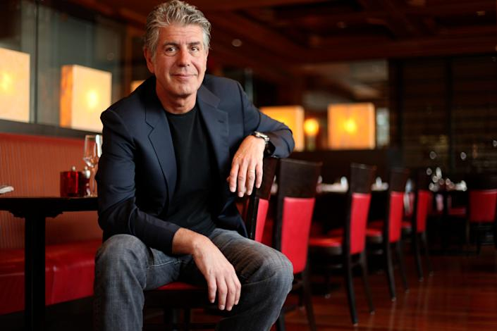 Anthony Bourdain, celebrity chef, photographed in the Ritz Carlton West End Bar, Washington DC. on May 22, 2010.
