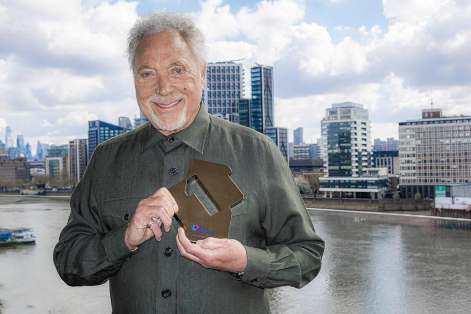 Sir Tom Jones with his Official Number 1 Album Award (PA)