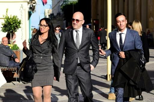 Maltese tycoon Yorgen Fenech (C) has been charged as an accomplice in the murder