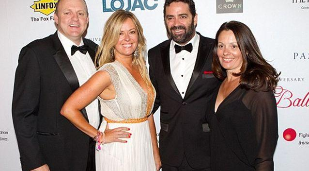Billy Brownless and Garry Lyon are pictured here with their ex-wives.