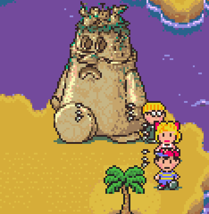 <p>It was a toss-up between Dungeon Man and Buzz Buzz, but ultimately, we gave it to Dungeon Man, the man in <em>EarthBound </em>who turned himself into a dungeon. Yes, it has a disturbing implication, but it's also one of the funniest and most memorable parts of the game. He's even the composer of his own dungeon music, for better or worse. <em>—C.S.</em></p>
