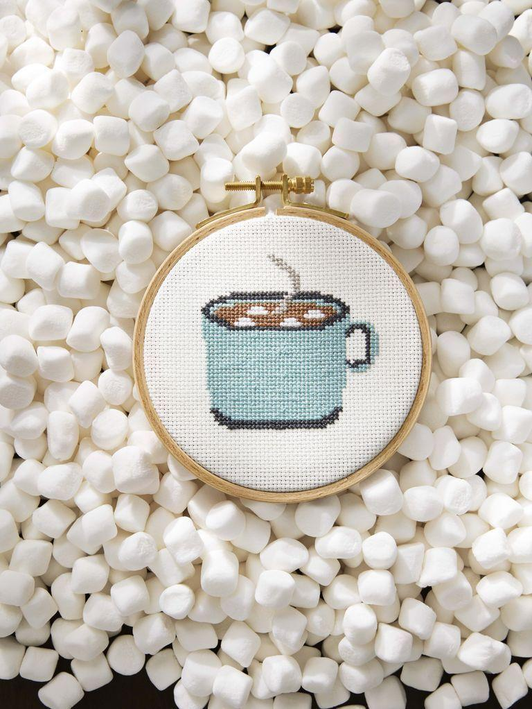 """<p>Here's one more free cross stitch pattern from Country Living to enjoy working on in front of the fire-- with a cup of hot cocoa in hand, of course!</p><p><strong>Get the pattern</strong><strong> <a href=""""https://www.countryliving.com/diy-crafts/a6380/cross-stitch/"""" rel=""""nofollow noopener"""" target=""""_blank"""" data-ylk=""""slk:here"""" class=""""link rapid-noclick-resp"""">here</a>. </strong></p><p><a class=""""link rapid-noclick-resp"""" href=""""https://www.amazon.com/Embroidery-Rainbow-Friendship-Bracelets-PAON/dp/B076TT3TYN/ref=sr_1_5?dchild=1&keywords=embroidery+floss&qid=1600884346&sr=8-5&tag=syn-yahoo-20&ascsubtag=%5Bartid%7C10050.g.23489557%5Bsrc%7Cyahoo-us"""" rel=""""nofollow noopener"""" target=""""_blank"""" data-ylk=""""slk:SHOP EMBROIDERY FLOSS"""">SHOP EMBROIDERY FLOSS</a></p>"""