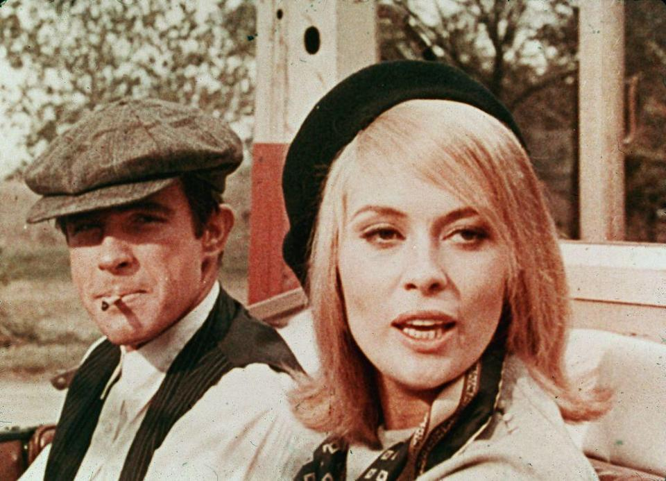 """<p>Crime's original """"it"""" couple. Not only is the movie a classic, but the outfits are pretty darn stylish too. </p>"""