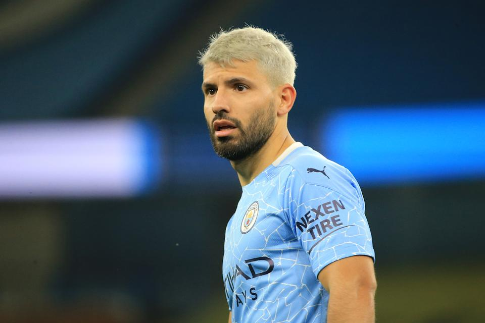 Sergio Aguero of Manchester City grabbed assistant referee Sian Massey-Ellis during Saturday's Premier League match against Arsenal. (Tom Flathers/Getty Images)