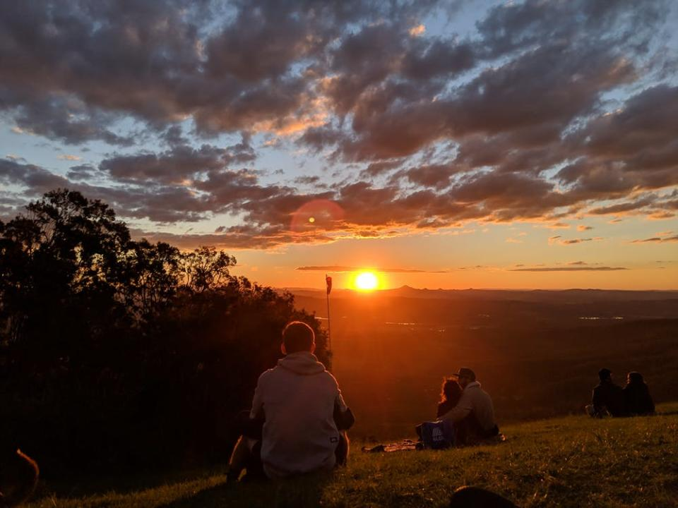 In Australia, we get beautiful views of the sun setting on most days—as long as we have a good spot to watch from. The sky lights up with bright reds and oranges.