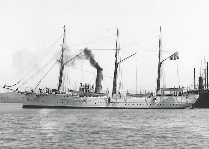 The McCulloch had a 20-year career that included battles in the Spanish-American war and patrols along the Alaskan coast. <cite>Mare Island Museum</cite>