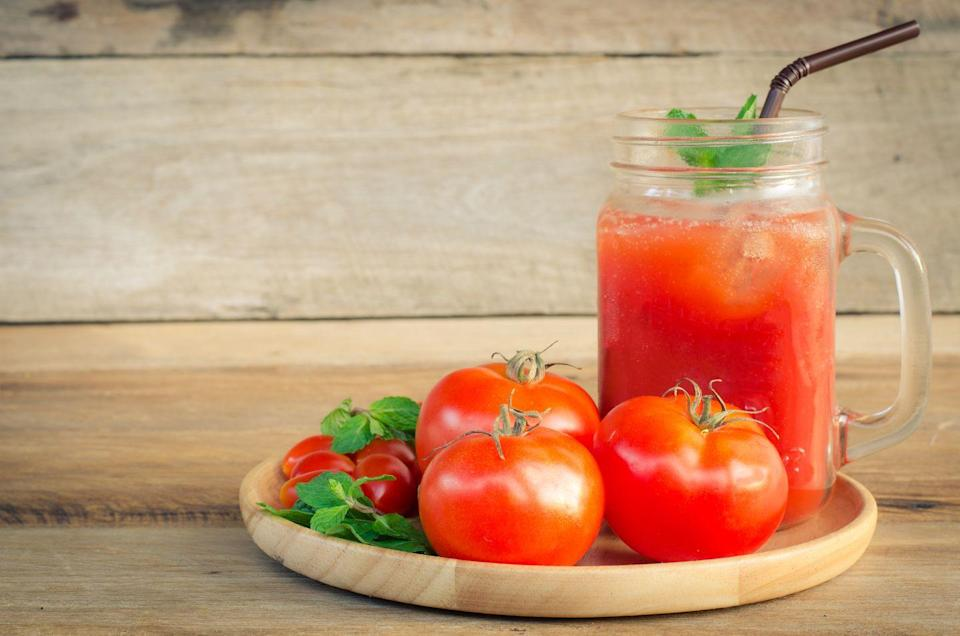 "<p><strong>State Beverage - Tomato Juice </strong></p><p>Tomatoes have only been the <a href=""https://ohio.gov/wps/portal/gov/site/search/!ut/p/z1/04_Sj9CPykssy0xPLMnMz0vMAfIjo8zi_S193D08TQz8_N39HQ0CLYKdXJyDQ9zDvEz1w1EVWBhZmBs4upl6Bvu4B_qbhpjoRxGj3wAHcDQgrD8KVQkWF4AV4LGiIDc0wiDTUREAMN-2sg!!/?1dmy&urile=wcm%3apath%3a/Ohio%20Content%20English/site/government/resources/state-symbols"" rel=""nofollow noopener"" target=""_blank"" data-ylk=""slk:state fruit officially since 2009"" class=""link rapid-noclick-resp"">state fruit officially since 2009</a>, but tomato juice has been the official beverage of Ohio since 1965. </p>"