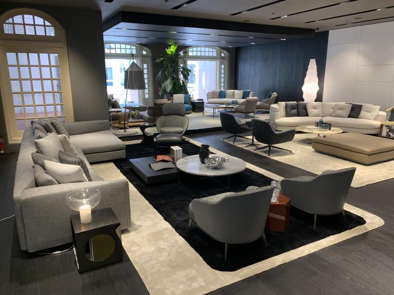 Minotti luxury furniture brand at Raffles Arcade at Raffles Hotel on 11 July 2019. (PHOTO: Teng Yong Ping / Yahoo Lifestyle Singapore)