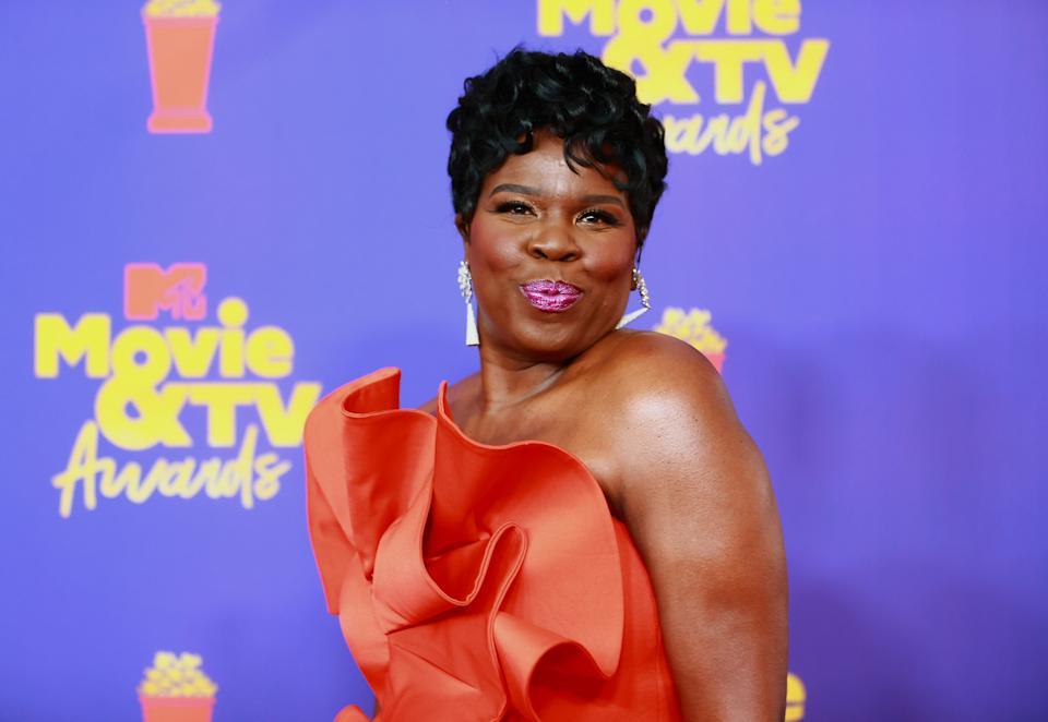 Leslie Jones is ringing in her 54th birthday with some cool dance moves on TikTok. (Photo by Matt Winkelmeyer/2021 MTV Movie and TV Awards/Getty Images for MTV/ViacomCBS)
