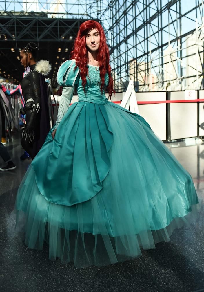 """<div class=""""inline-image__caption""""><p>A cosplayer poses during New York Comic Con 2019 on October 05, 2019 in New York City. </p></div> <div class=""""inline-image__credit"""">DANIEL ZUCHNIK/Getty</div>"""
