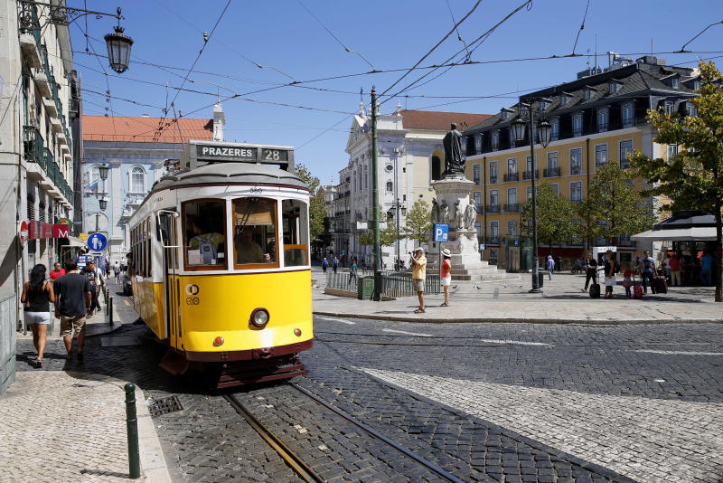 Views of Lisbon in Portugal