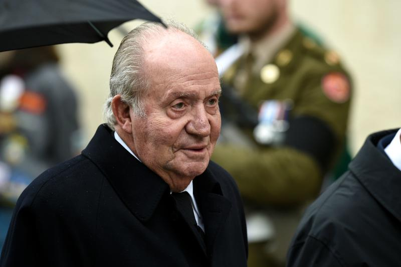 Spain´s former King Juan Carlos I arrives for the funeral ceremony of Jean d'Aviano, Grand Duke of Luxembourg, on May 4, 2019, in Luxembourg City. - The Grand Duke of Luxembourg died on April 23, 2019 aged 98. (Photo by JOHN THYS / Belga / AFP) / Belgium OUT (Photo credit should read JOHN THYS/AFP via Getty Images)