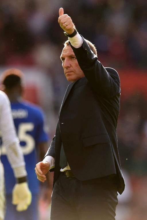 Leicester manager Brendan Rodgers is hoping to take advantage of a tired Tottenham on Saturday (AFP Photo/Oli SCARFF )