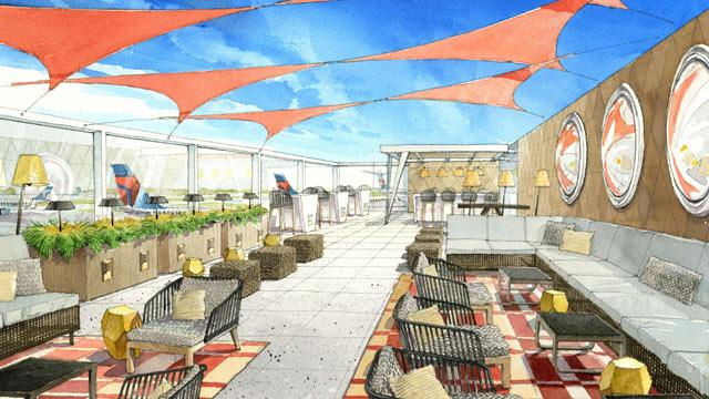 Delta's First Outdoor Airport Terraces
