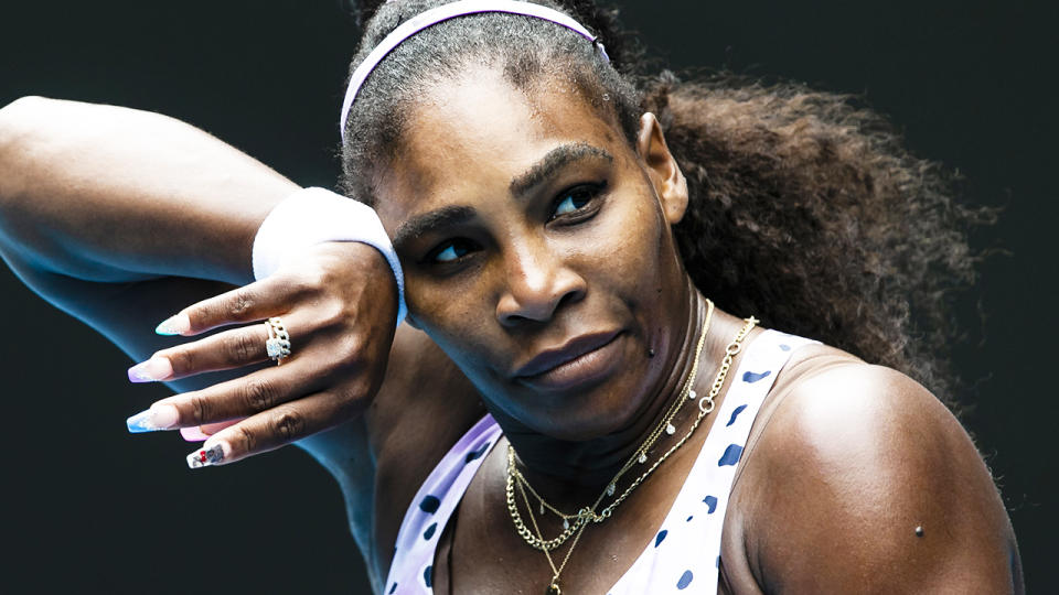 Serena Williams, pictured here playing at the 2020 Australian Open.