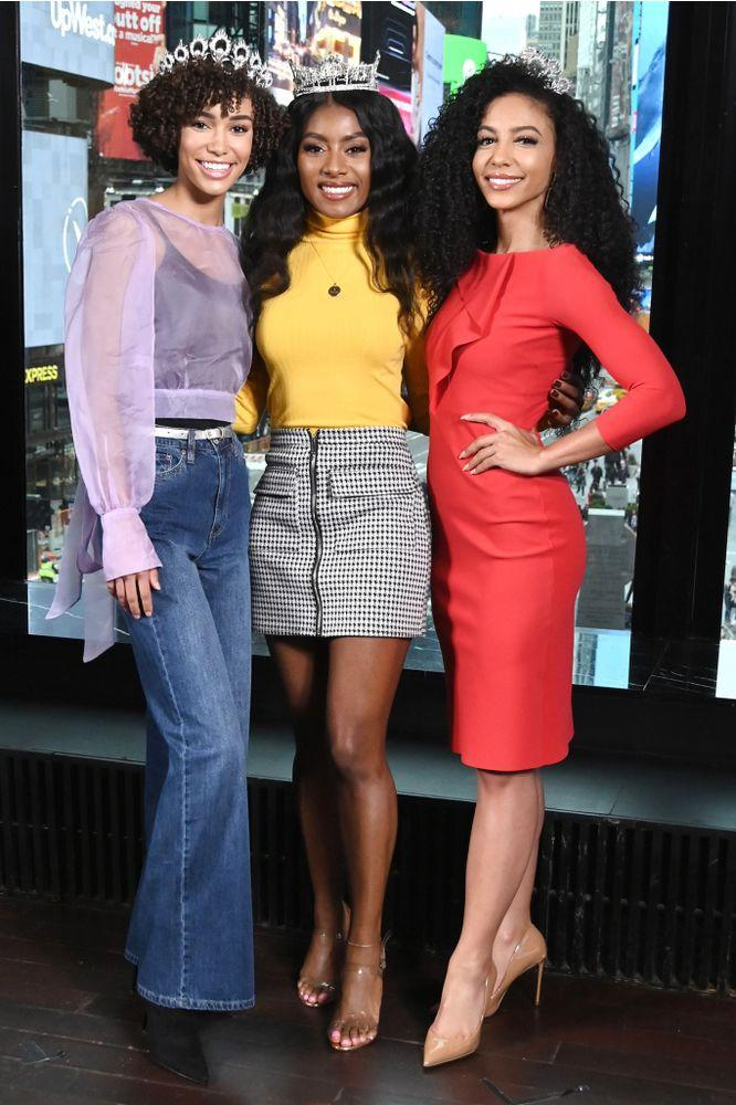 Miss Teen USA Kaliegh Garris, Miss America Nia Franklin and Miss USA Cheslie Kryst | Gary Gershoff/Getty