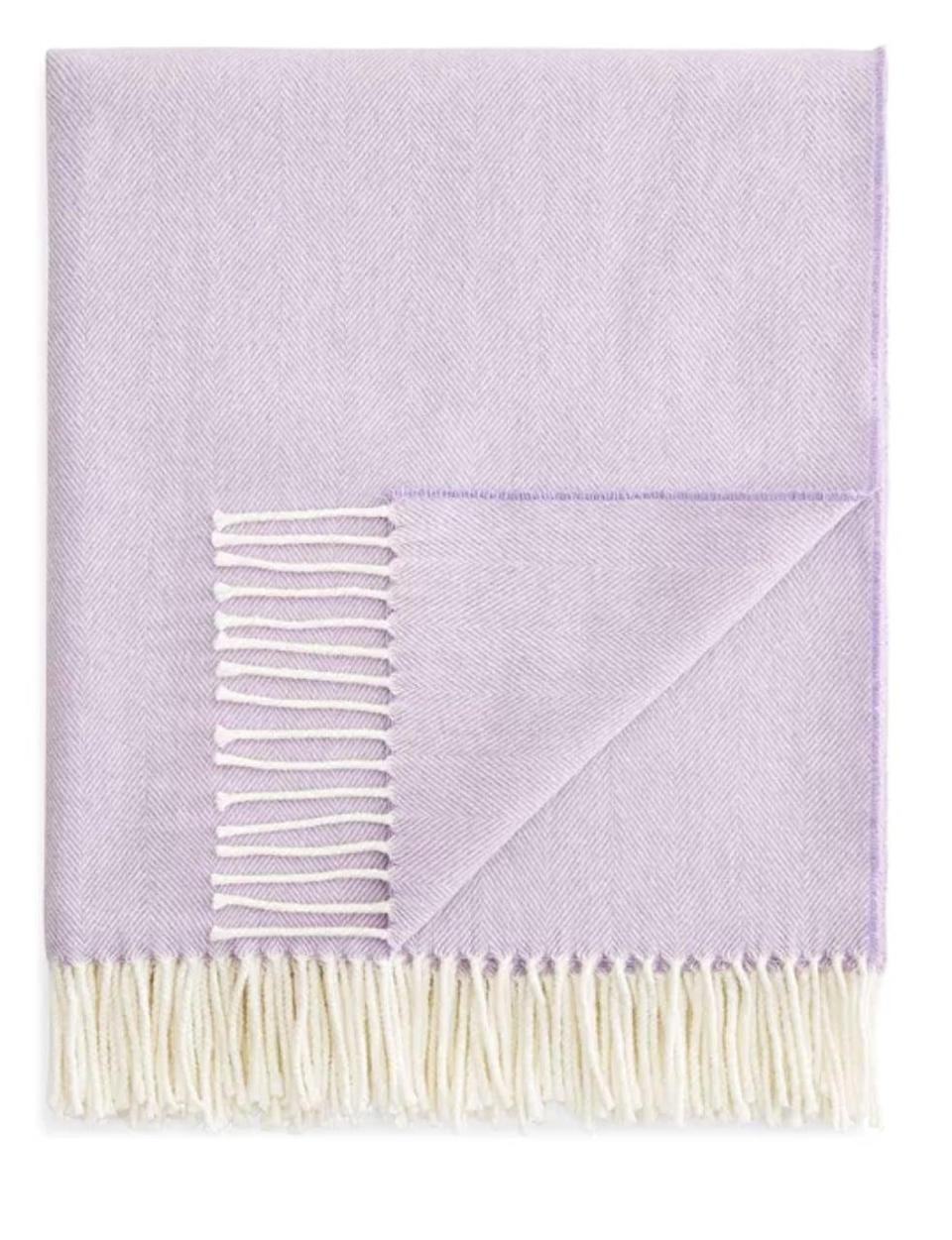 <p>It's always nice to have a <span>Herringbone Throw Lands Downunder</span> ($98, originally $128) on hand for chilly nights.</p>