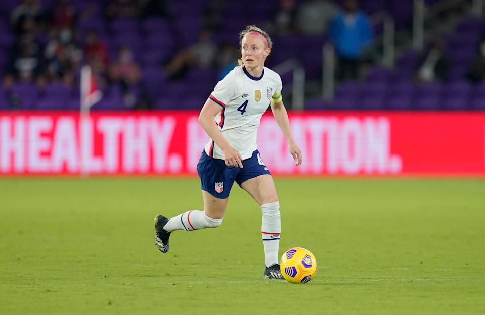 <p><strong>Position:</strong> defender</p> <p><strong>Hometown:</strong> St. Louis</p> <p><strong>Club:</strong> Portland Thorns FC</p> <p><strong>Olympic appearances:</strong> London 2012, Rio 2016</p> <p>Sauerbrunn has played for the USWNT in three World Cups and will make her third Olympic appearance in Tokyo. She won Olympic gold in 2012 and was named NWSL Defender of the Year three years in a row.</p>