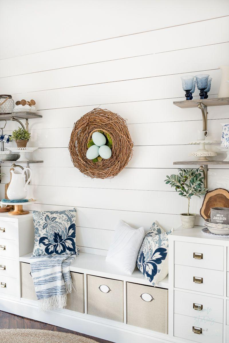 """<p>Using three grapevine wreaths in varying sizes and extra-large craft eggs, you can make a wreath for your space that looks like a cozy nest. </p><p><strong>Get the tutorial at <a href=""""https://www.homestoriesatoz.com/easter/spring-diy-wreath-nest-wreath.html"""" rel=""""nofollow noopener"""" target=""""_blank"""" data-ylk=""""slk:Home Stories A to Z"""" class=""""link rapid-noclick-resp"""">Home Stories A to Z</a>.</strong></p><p><a class=""""link rapid-noclick-resp"""" href=""""https://go.redirectingat.com?id=74968X1596630&url=https%3A%2F%2Fwww.walmart.com%2Fip%2F2-Oz-True-Green-Moss-Sheet%2F55504383&sref=https%3A%2F%2Fwww.thepioneerwoman.com%2Fhome-lifestyle%2Fcrafts-diy%2Fg35698457%2Fdiy-easter-wreath-ideas%2F"""" rel=""""nofollow noopener"""" target=""""_blank"""" data-ylk=""""slk:SHOP SHEET MOSS"""">SHOP SHEET MOSS</a></p>"""