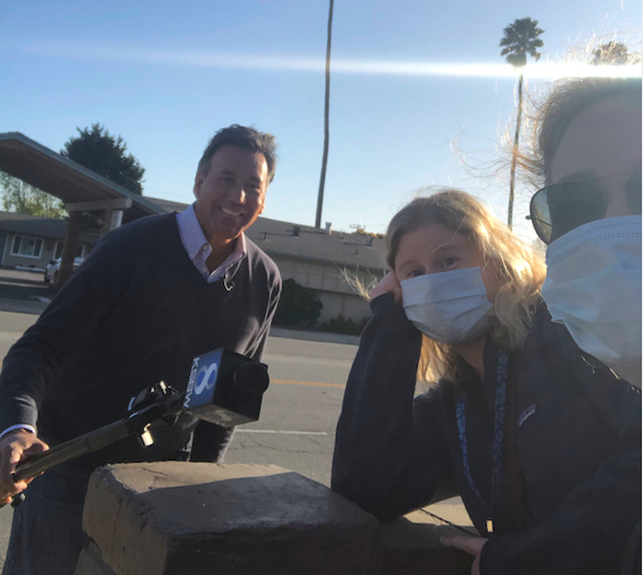 Reporters at the Salinas Californian continue providing critical news to the community, wearing gloves and masks like everyone else.