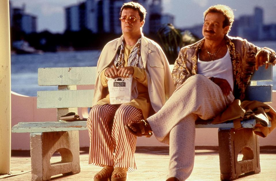 "<p>On the flipside of formative queer viewing is <em>The Birdcage,</em> a laugh-out-loud flick that centers on a young, straight man who tries to hide his gay fathers (Nathan Lane and Robin Williams) from his girlfriend's conservative parents. A comedy of errors soon unfolds, with Lane giving arguably the best performance of his career. And that's saying something. — <em>CR</em></p> <p><a href=""https://www.amazon.com/gp/video/detail/amzn1.dv.gti.a8a9f718-5f1f-2224-c373-e96acb2ef5ba?autoplay=1"" rel=""nofollow noopener"" target=""_blank"" data-ylk=""slk:Stream here"" class=""link rapid-noclick-resp""><em>Stream here</em></a></p>"