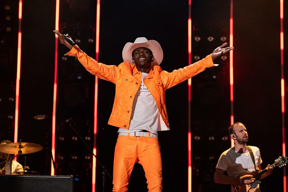 NASHVILLE, TENNESSEE - JUNE 08: Lil Nas X performs onstage during day 3 of the 2019 CMA Music Festival on June 8, 2019 in Nashville, Tennessee. (Photo by imageSPACE/Sipa USA)