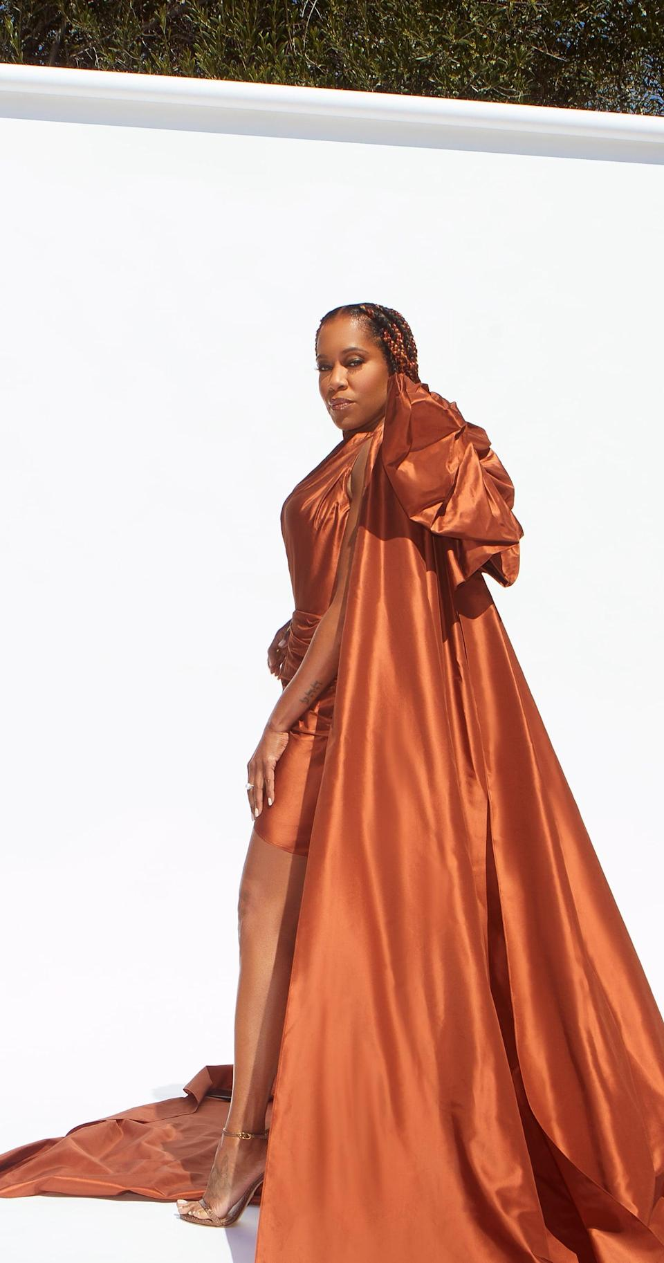 Regina King's Dramatic Gown at the NAACP Image Awards Is Even Better From the Back