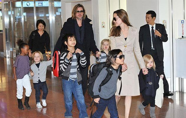 Brad and Ange are in the middle of a heated custody battle over their six children. Source: Getty