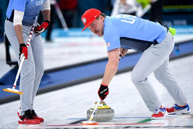 <p>Matt Hamilton of the U.S. has drawn comparisons to Ron Swanson and Mario. Either way, his gym routine seems to be working. </p>