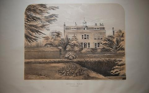 The sale catalogue drawing of Gad's Hill, which Dickens bought in March 1856 - Credit: Eddie Mulholland