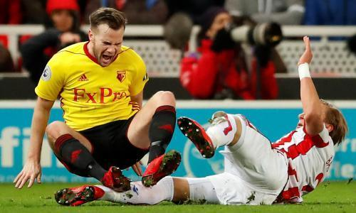 Stoke and Watford scrap their way to seven yellow cards but no goals