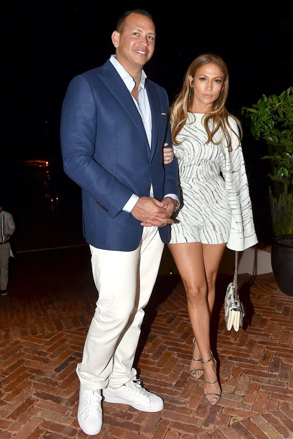 "<p>On Feb. 4, 2018, Lopez told <a href=""https://www.etonline.com/jennifer-lopez-reflects-on-year-long-relationship-with-alex-rodriguez-exclusive-95742"" rel=""nofollow noopener"" target=""_blank"" data-ylk=""slk:Entertainment Tonight"" class=""link rapid-noclick-resp""><em>Entertainment Tonight</em></a> of her relationship, ""We both are so happy about our lives right now and where we're at professionally, as well as personally...things seem to be flowing in a really beautiful way. We both have a lot of support for each other and a lot of love for each other.""</p>"
