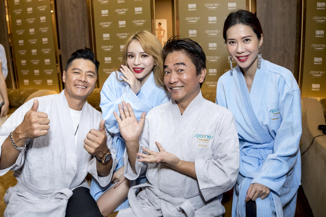 <p>Celebrities wearing the Spa Nes robes. (Photo: Orient Palace & Spa Nes) </p>